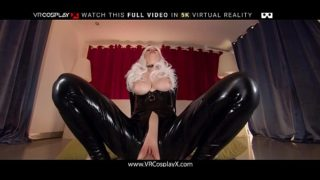 Busty Black Cat is Angry and Horny